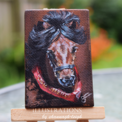 Little Red Sash, Miniature Horse Painting